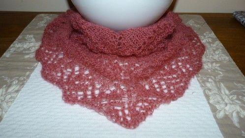 chèche en dentelle de tricot