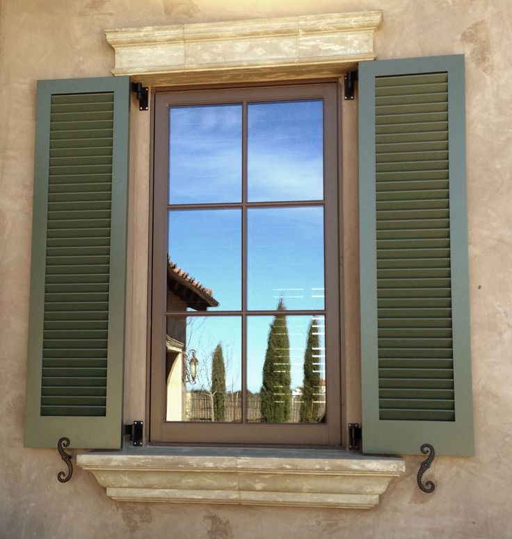 72 best shutter styles louvered images on pinterest - Exterior louvered window shutters ...