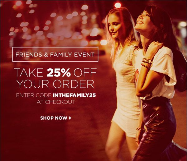 October 15-17 - Shopbop friends and family code