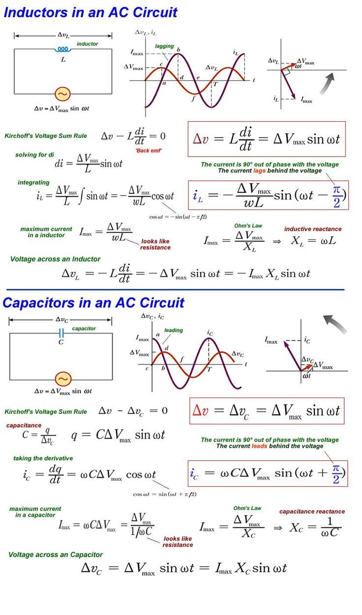 Ac Circuits Electrical In 2018 Pinterest Circuit Multiple Led And Formula