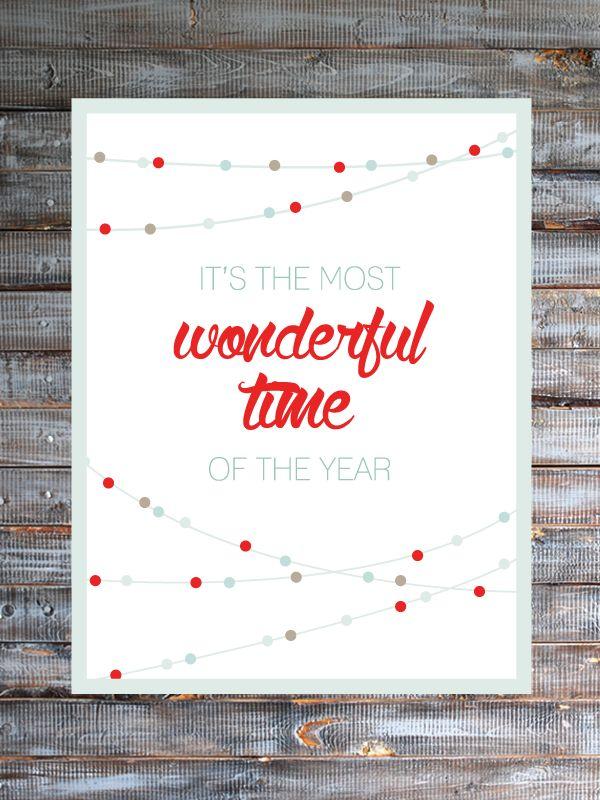 "Free Christmas Printable ""It's the Most Wonderful Time of the Year"" Friday's Fab Freebie :: Week 32 - brepurposed - www.brepurposed.com"