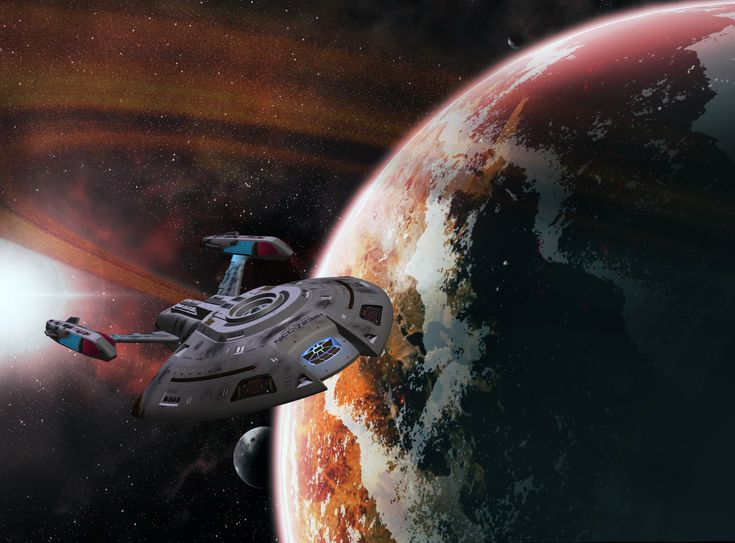 Perseverance by mckinneyc Nova-class USS Equinox making her way in the Delta quadrant