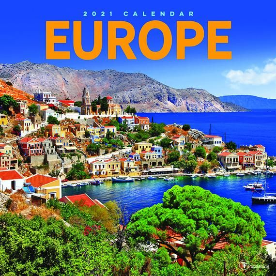 2021 Europe Wall Calendar 12x12 In 2020 Greek Islands To Visit Greece Vacation Greek Islands