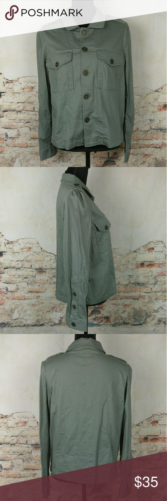 Marc by Marc Jacobs Sz L Army Fatigue Green Jacket Marc by Marc Jacobs Sz L Army Fatigue Green Button Down Jacket Stretch Cotton Marc By Marc Jacobs Jackets & Coats