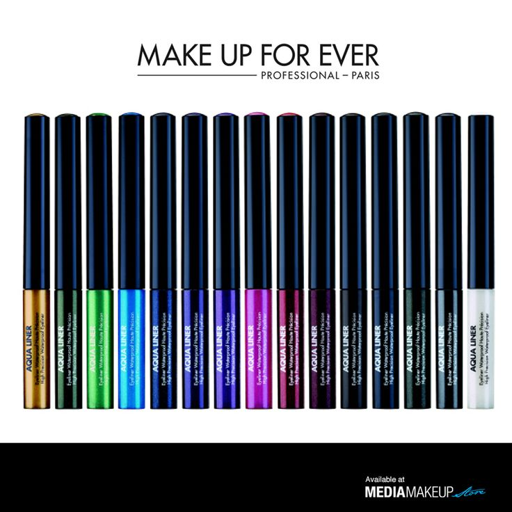 Aqua Liner is a high precision waterproof liquid eye liner. Rich in pigments and polymers, its formula guarantees intense colour and an outstanding waterproof result. Its ergonomic applicator lets you easily apply an ultra precise line to create an eye liner makeup look. Aqua liner is available in a wide range of vibrant shades with matte, iridescent and diamond finishes. Easily removed with waterproof makeup remover. www.mediamakeupstore.com #MediaMakeupAU #MAKEUPFOREVER