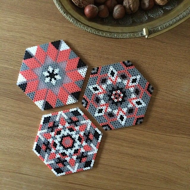 Coasters hama perler beads by leantropisk