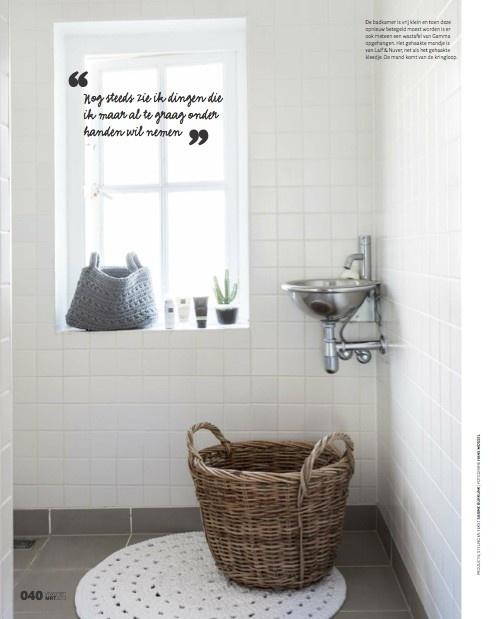 Our article in VT Wonen! sabine burkunk - badkamer