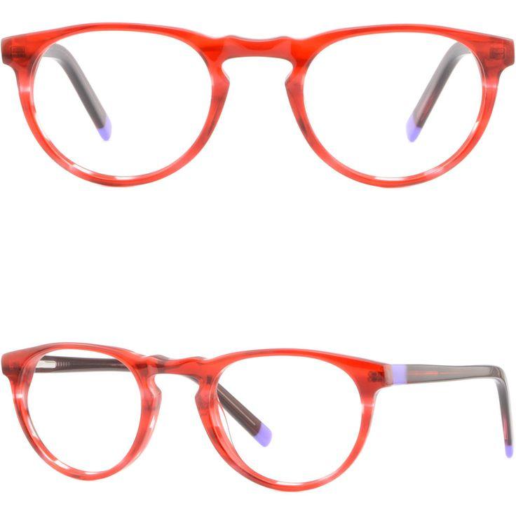Small Round Women's Girls Acetate Frames Spring Hinges Prescription Glasses Red