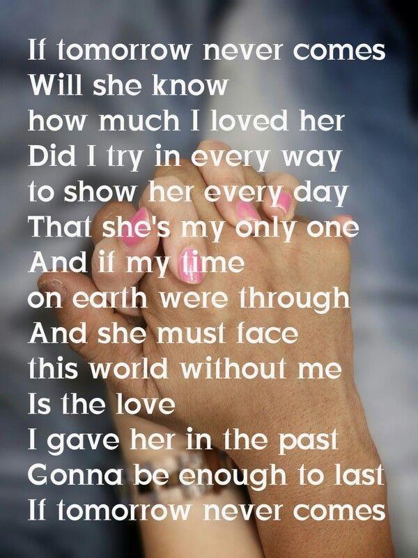 I want tomorrow lyrics