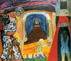 "terminusantequem:  ""R. B. Kitaj (American, 1932-2007), Germania (The Tunnel), 1985. Oil on canvas, 72 1/8 x 84 ¼ in.  """