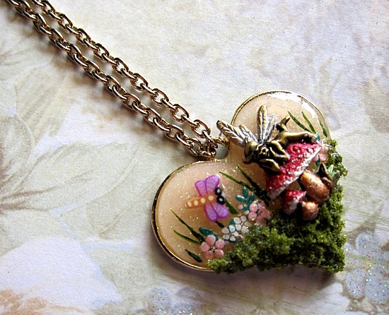 Best 25 magical jewelry ideas on pinterest womens jewelry rings magical mushroom fairy necklace iii faerie fay fae faerie realm fantasy nature mystical jewelry pendant simple aloadofball Image collections