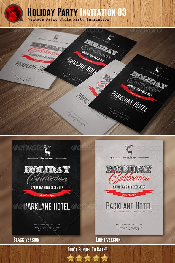 business event invitation templates%0A Holiday Celebration Invitation