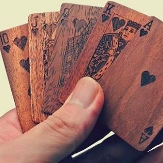 Wooden Deck Of Cards | Unique Gifts For Men DM us for a paid feature! Tag 2 friends who will love this! Via Oddity mall #tech #instafollow #TagsForLikes #tablets