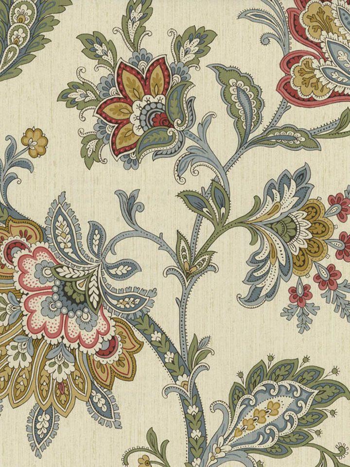 Ivory RL20001 Leaf Floral Trail Wallpaper