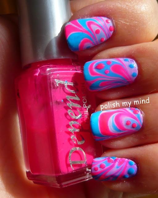 polish my mind: Summer Challenge day 11 - Pink + Blue day