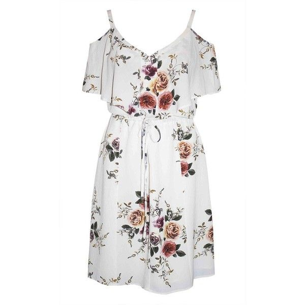 Nikita White Floral Dress ($49) ❤ liked on Polyvore featuring dresses, night out dresses, floral party dress, floral day dress, floral dresses and holiday party dresses