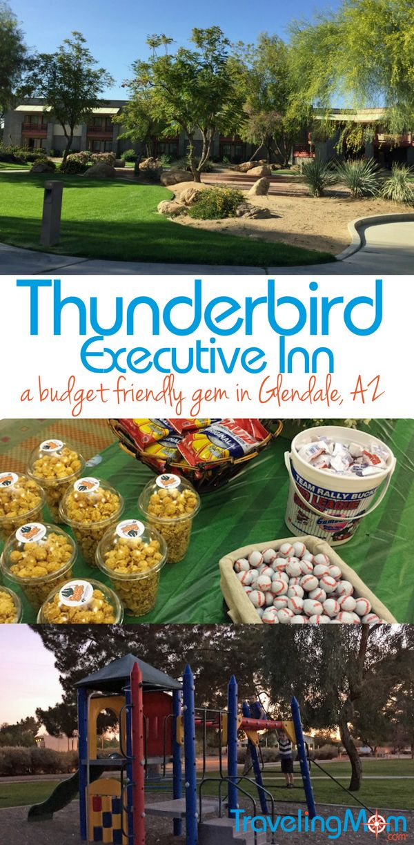 The Thunderbird Executive Inn is a great budget-friendly option for families headed to the Phoenix area perfect for families headed to Cactus League games or spring break.