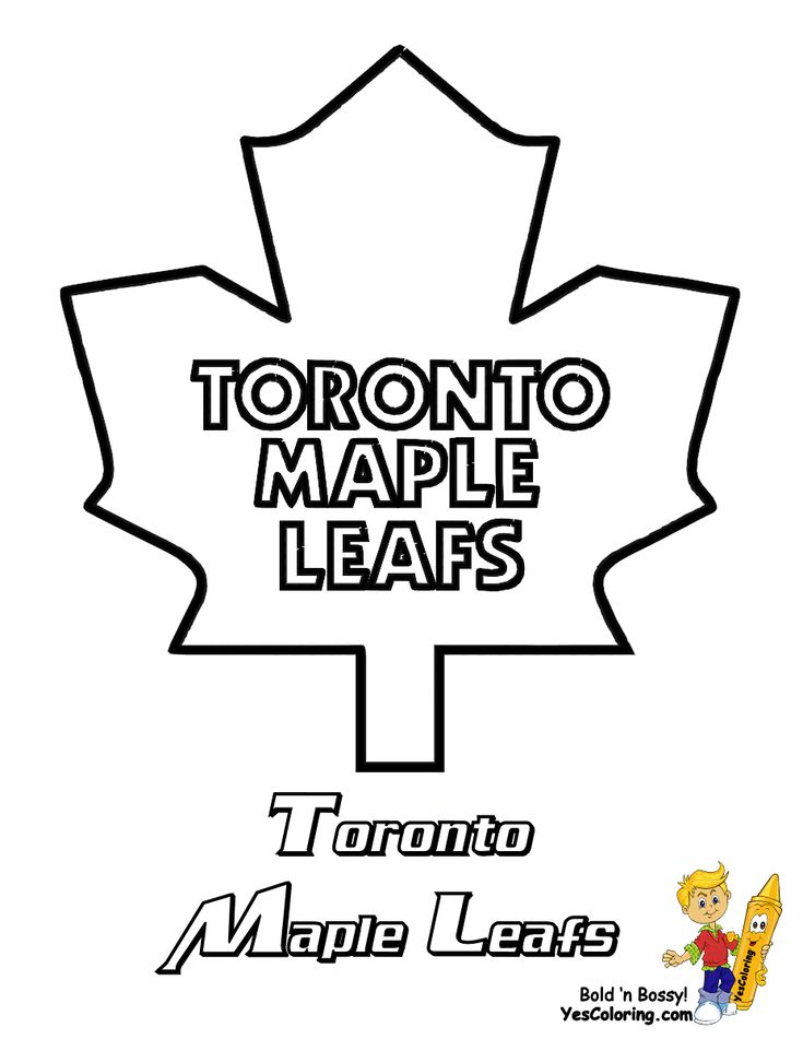 Free Hockey Printable Stencils Hockey Coloring Pages Toronto