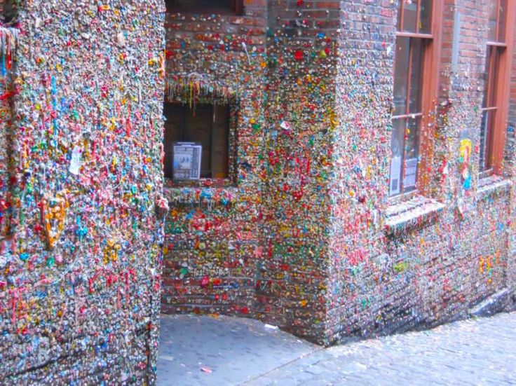 Put gum on the Seattle gum wall.