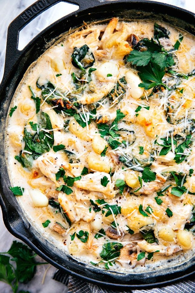 You can make Chicken + Spinach Gnocchi in one pan using this easy recipe.