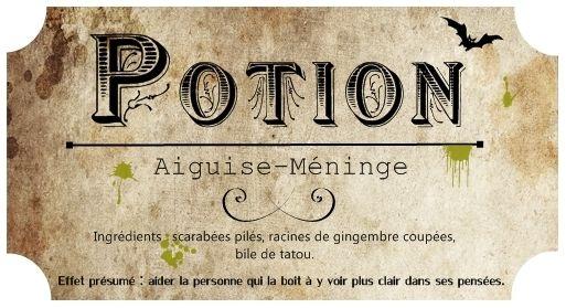 Etiquette Potion magique