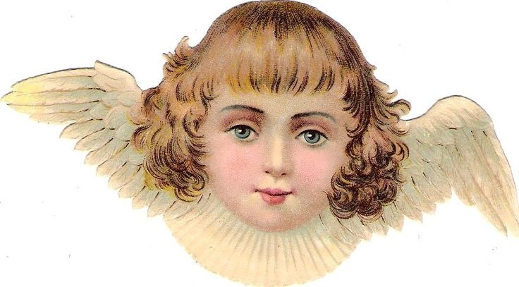 Oblaten Glanzbild scrap die cut chromo Engel 11,7 cm angel ange cherub head tete