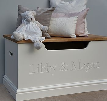 Personalised toy box makes the perfect christening gift