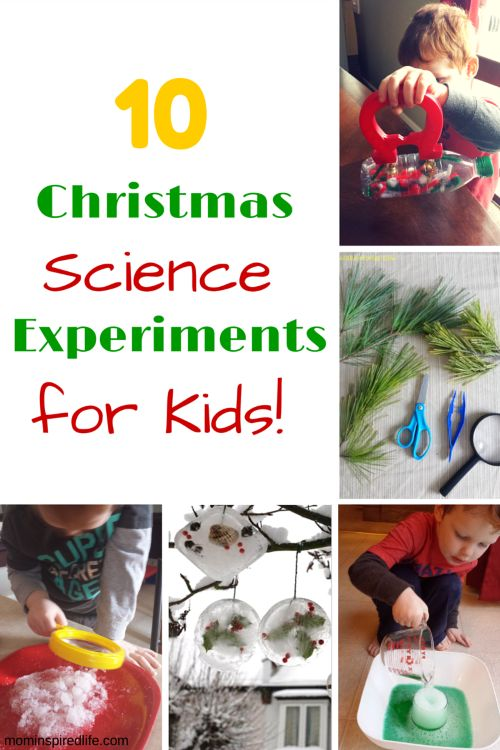 Christmas Learning Activities for preschool, christmas science