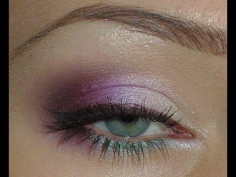 Макияж для зеленых глаз (бордовые тени) /// Make up for green eyes