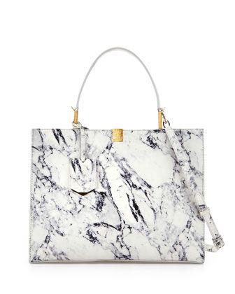 Le Dix Cabas Marble Tote Bag by Balenciaga at Bergdorf Goodman. $2075