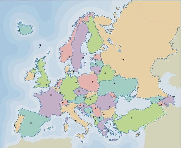 Mapa De Europa Juegos.Juegos Mapas Europa C Sociales Mapa Politico De Europa