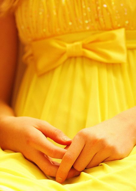 Dainty Girl in Yellow Dress With Hands Resting by Pink Sherbet Photography on Flickr.