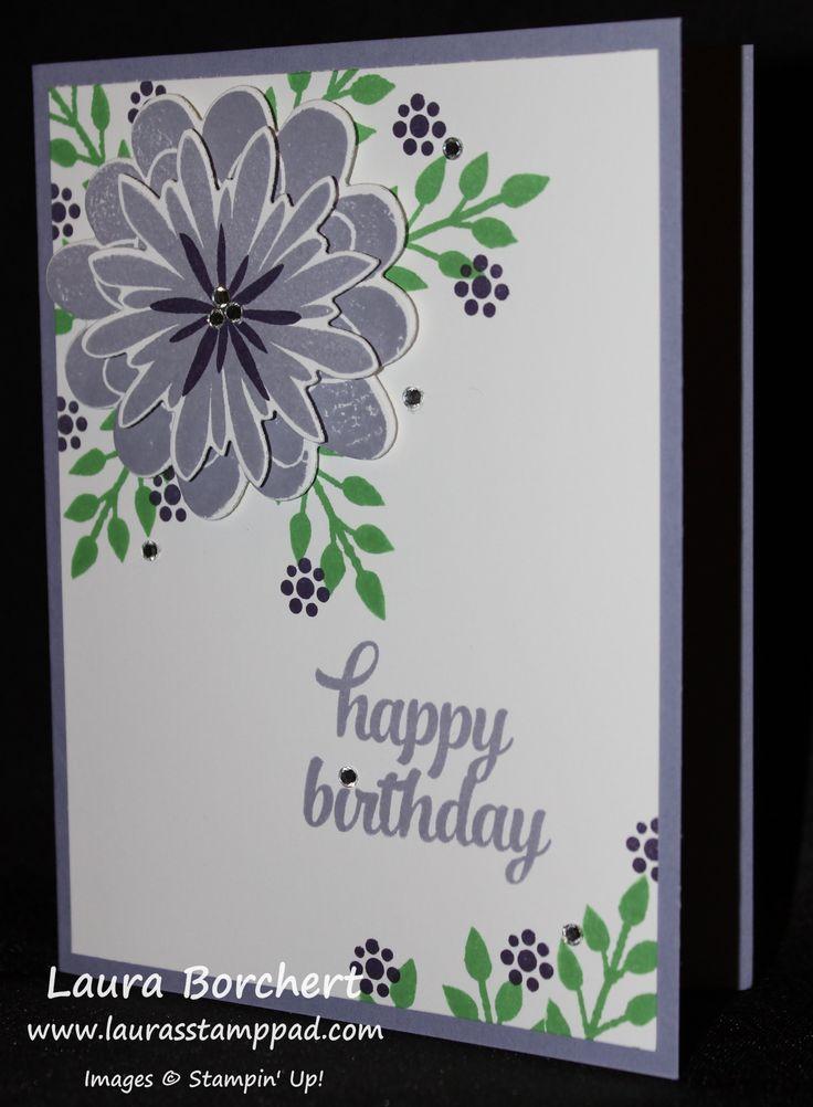 Flower Patch Stampin' Up Stamp Set & Flower Fair Framelits - Laura's Sta...