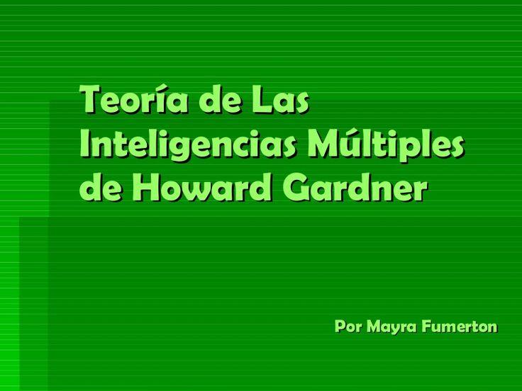 Interpretación / resumen de la Teoría de Gardner #educacion #docentes
