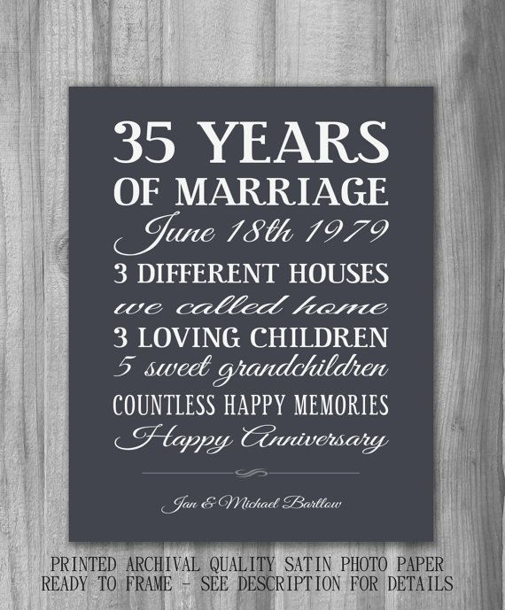 Personalized+35th+Anniversary+Gift+Unique+by+PrintsbyChristine,+$20.00