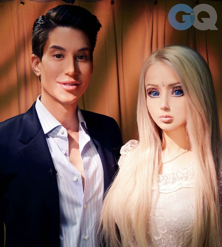 So Human Ken met Human Barbie & doesn't like her because she needs makeup, but he got plastic surgery to look that way instead. Ummm