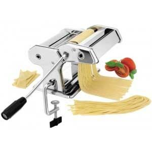 Maquina confeccionador de Pasta manual Lacor 60390 - 14,5cm - Máquina laminadora de acero inoxidable para hacer pasta fresca profesional de Lacor. Ecológica, no requiere electricidad. Lámina hasta 14,5 cm. de ancho con 9 posiciones distintas, para preparar pasta en distintas medidas de 3 a 0,2 mm, hacer fetuccini, spaghetti, lasaña y ravioli. 1 Rodillos cortantes para la preparación de fideos o spaghettis frescos. Sistema fijación a mesa de trabajo para un mejor modo de uso. Fácil limpieza…
