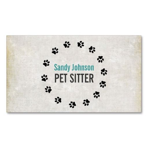 Pet Sitter Sitting Services Business Card