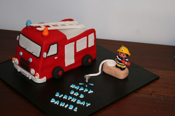 Fire Engine Cake For my son's 3rd brithday who is absolutely obsessed with fire trucks, dressing like a firefighter, etc