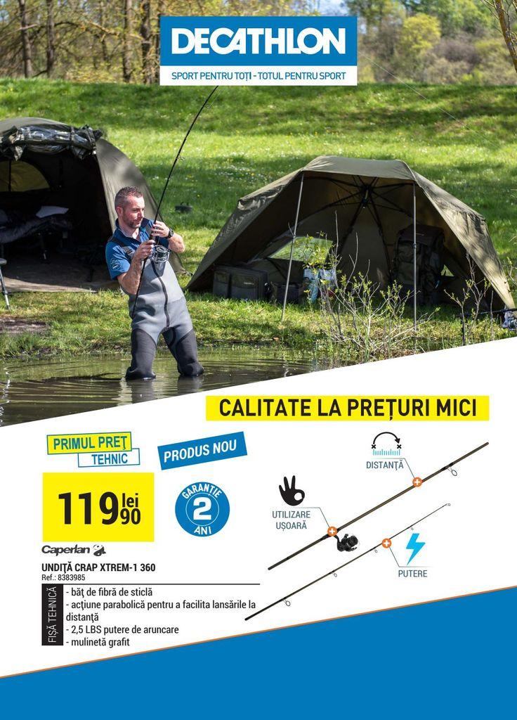 Catalog Decathlon Oferte Pescuit 2017! Oferte si recomandari: undita crap Xtrem-1 360, pret 119,90 lei; husa undita pescuit Holdone 59,90 lei