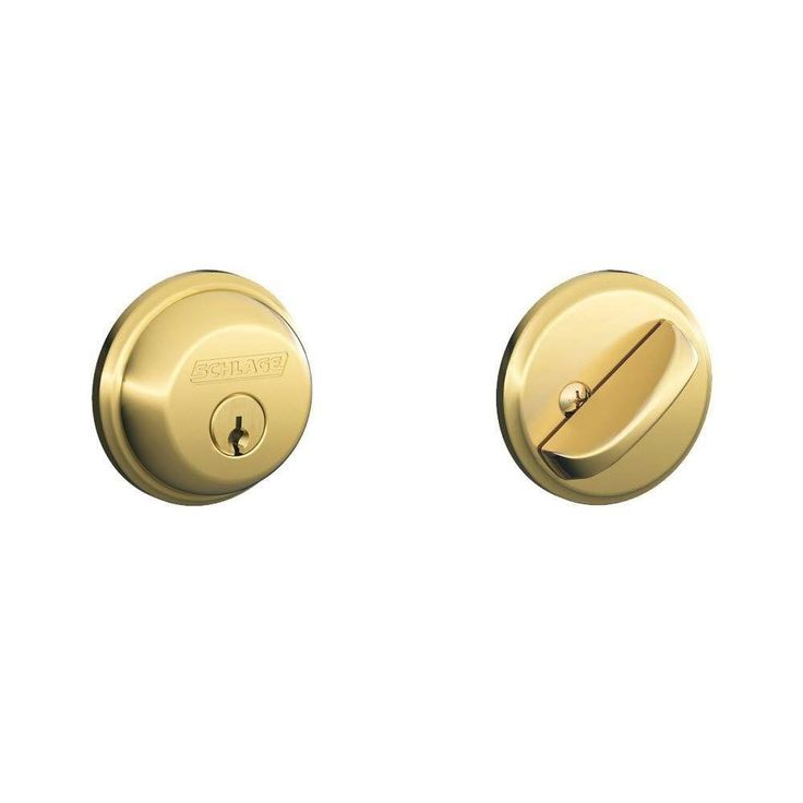 Schlage Lock Company Schlage B60N 605 Single Cylinder Deadbolt Bright Brass #SchlageLockCompany