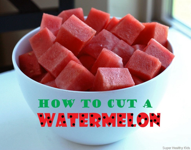 Super easy way to cut a watermelon