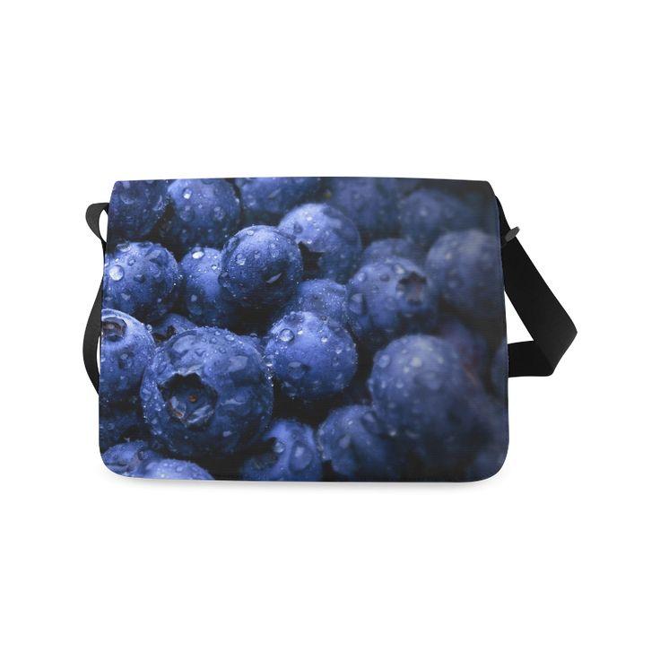 Blueberries Messenger Bag. FREE Shipping. #artsadd #bags #fruits