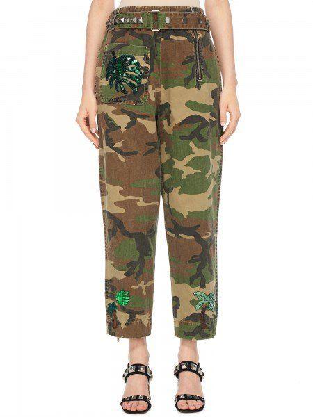 Укороченные брюки с милитари-принтом MARC JACOBS купить онлайн в интернет магазине Au Pont Rouge