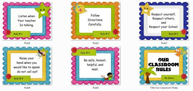 INSTRUCTIONAL MATERIALS: OUR CLASSROOM RULES POSTER & CHARTS - DepEd LP's