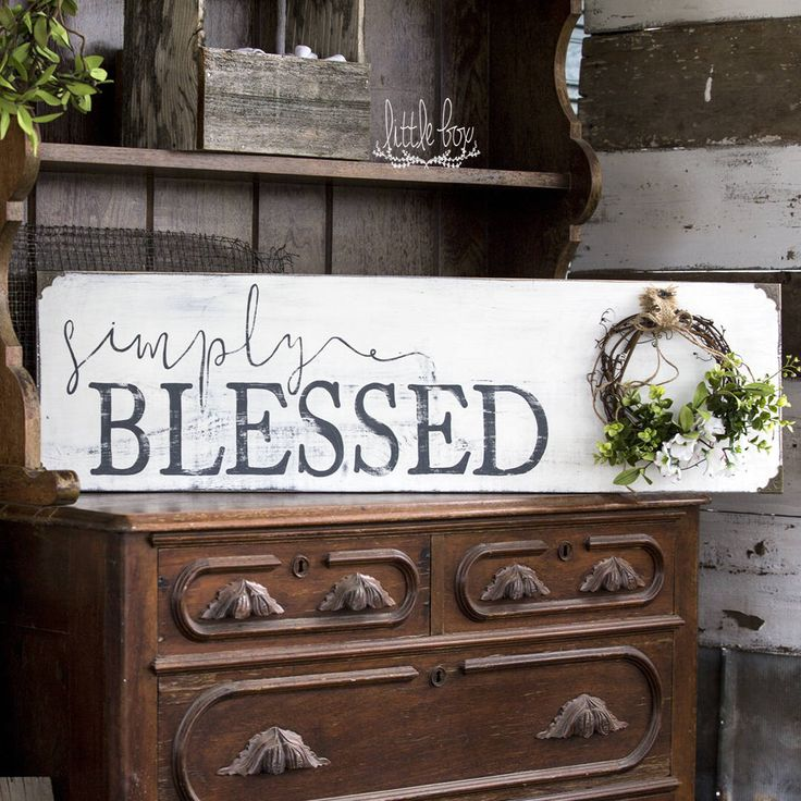 Rush for Mother's Day / Simply Blessed Wreath Sign /  Modern Farmhouse Decor / Shiplap Sign / Grapevine Wreath / Rustic Sign /Farmhouse Sign by Littleboxsigns on Etsy https://www.etsy.com/listing/509341710/rush-for-mothers-day-simply-blessed