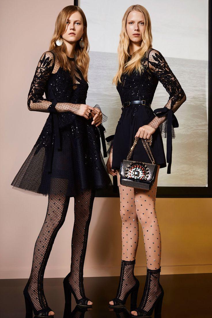 Elie Saab Resort 2018: Fabulous black dresses with intricate beading.