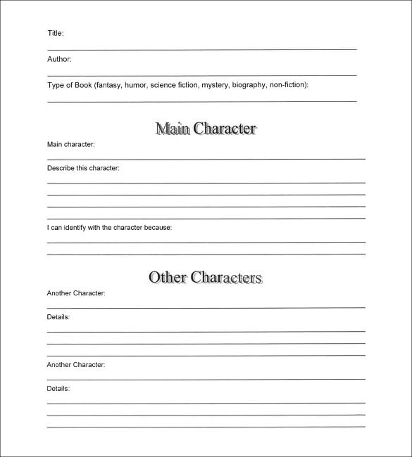 Sample book summary template