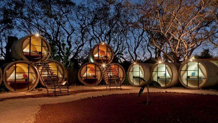 Le Tubohotel dans le petit village de Tepzotlan situé à environ 1heure de Mexico