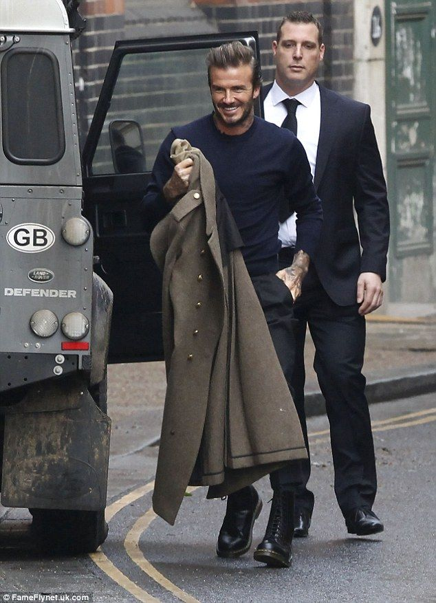 Modern gent: David Beckham appeared to be already dreaming of his life outside the city as he dressed every inch the country gent as he stepped out in London on Sunday